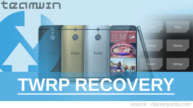 Pasang TWRP HTC One M9 Temp
